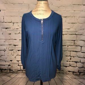 Roz & Ali blue blouse